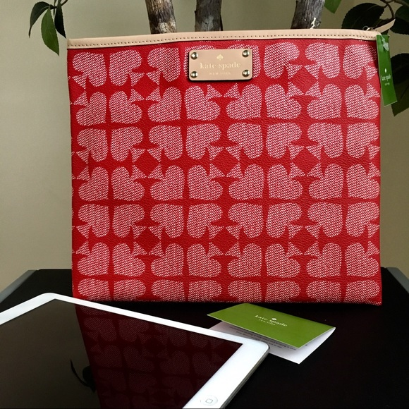 Kate Spade Pebbled Ace of Spades Tablet Pouch